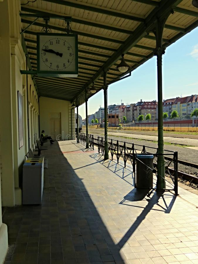 Stazione ferroviaria Praga 6 fotografia stock libera da diritti