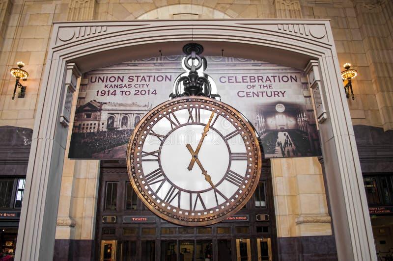 Stazione grande Hall Clock del sindacato immagine stock libera da diritti