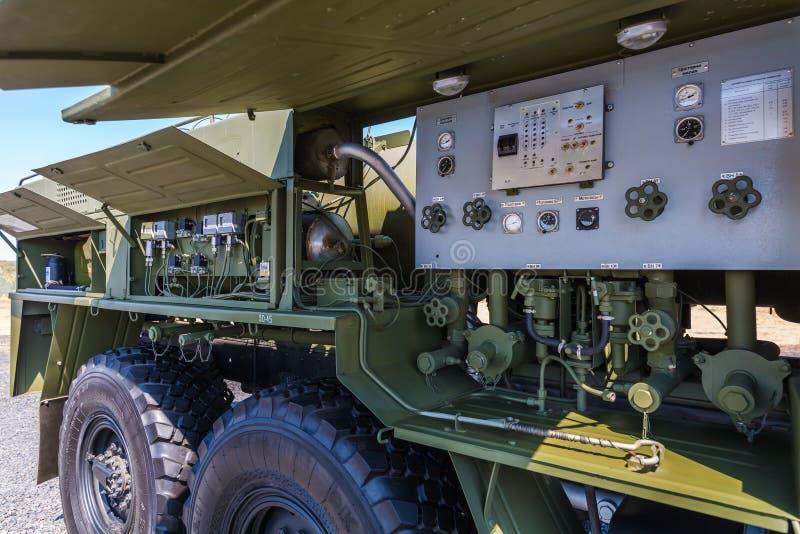 Stazione mobile ARS-14 chilometro per decontaminazione e disinfezione dell'armamento, dell'attrezzatura speciale e del territorio fotografia stock
