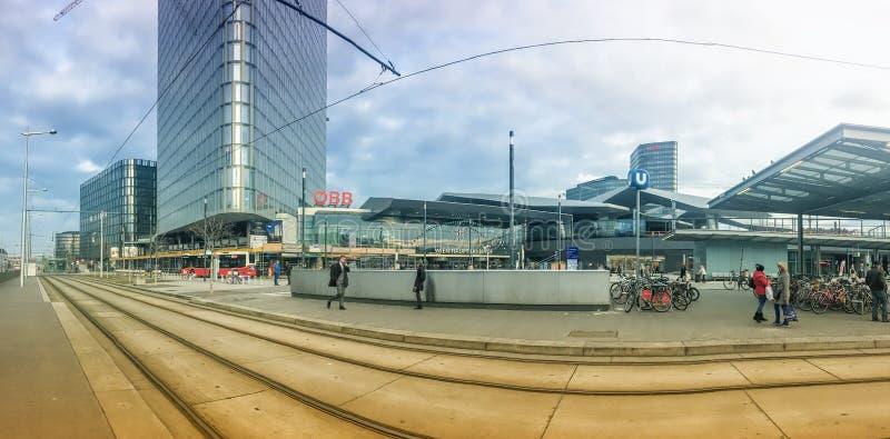 Stazione principale di Vienna fotografie stock libere da diritti