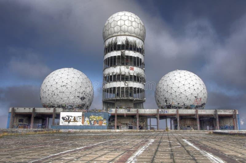 Stazione radar di Teufelsberg vicino a Berlino immagine stock libera da diritti