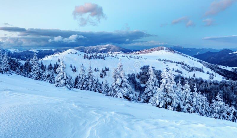Stazione sciistica della Slovacchia all'inverno - Donovaly immagine stock