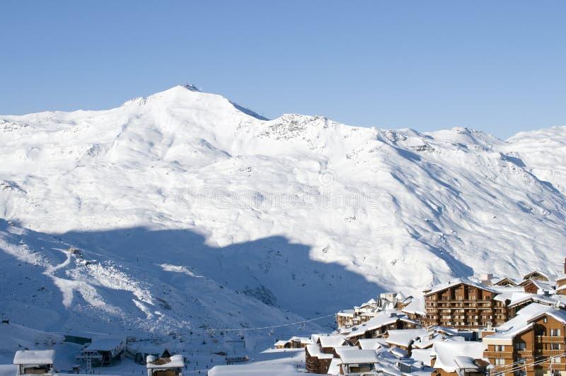 Stazione sciistica, Val Thorens, Francia immagine stock
