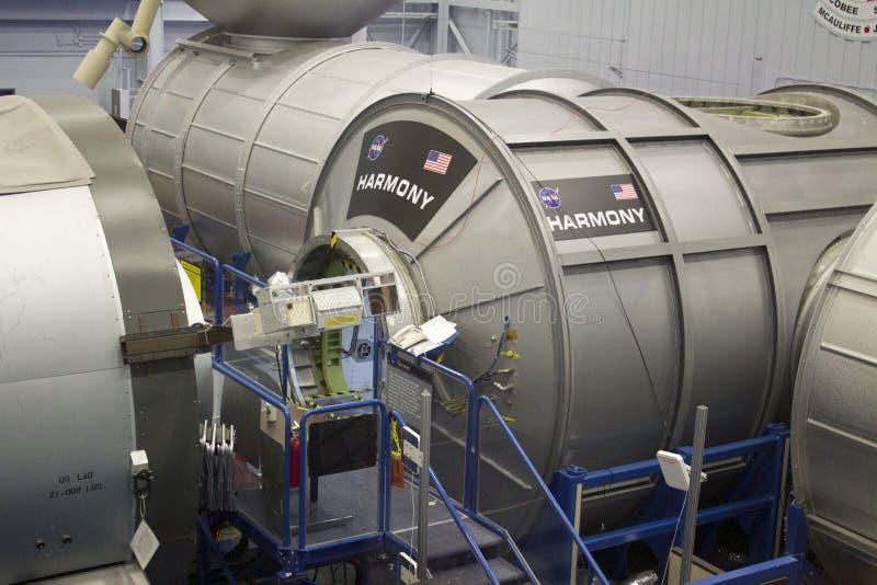 Stazione Spaziale Internazionale HARMONY Mockup alla NASA Johnson Space fotografie stock libere da diritti