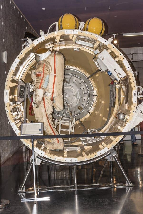 Stazione spaziale speciale del compartimento dell'ingresso fotografia stock