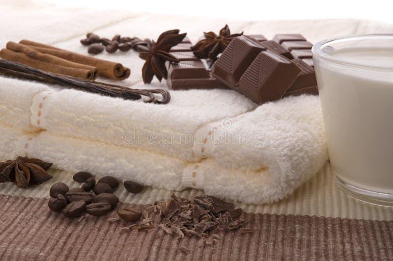 Stazione termale del cioccolato fotografia stock libera da diritti