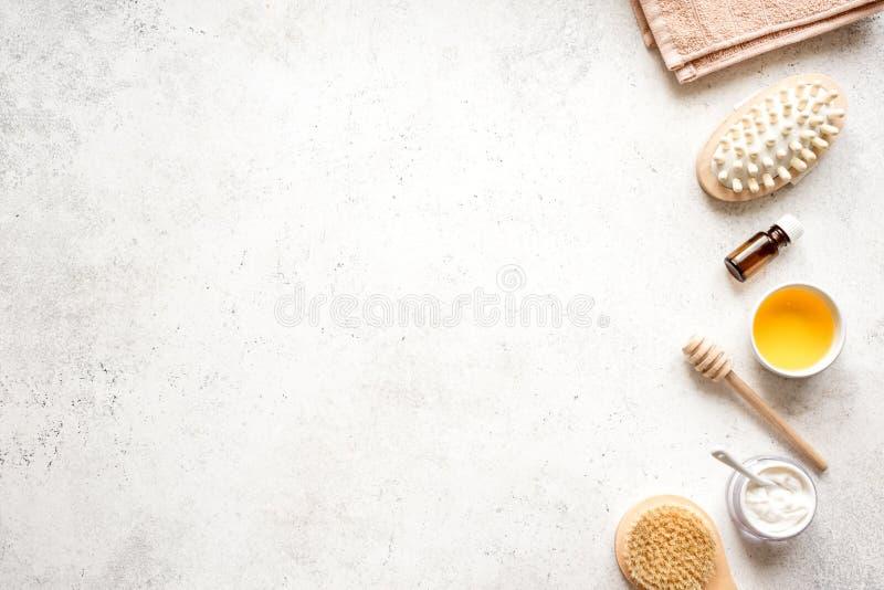 Stazione termale della crema e del miele immagine stock libera da diritti