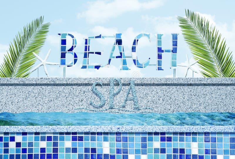 Stazione termale della spiaggia royalty illustrazione gratis