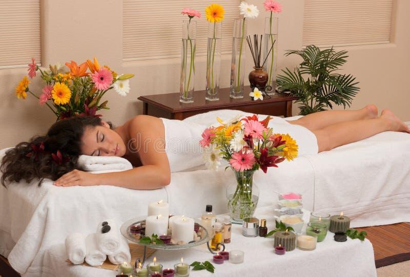 Stazione termale di Skincare di massaggio fotografia stock libera da diritti