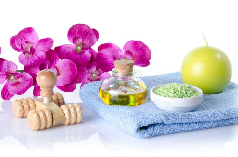 Stazione termale e concetto di massaggio fotografia stock