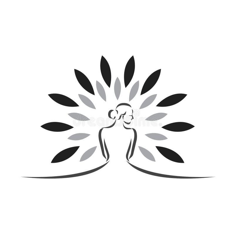 Stazione termale e logo di bellezza - vettore illustrazione di stock