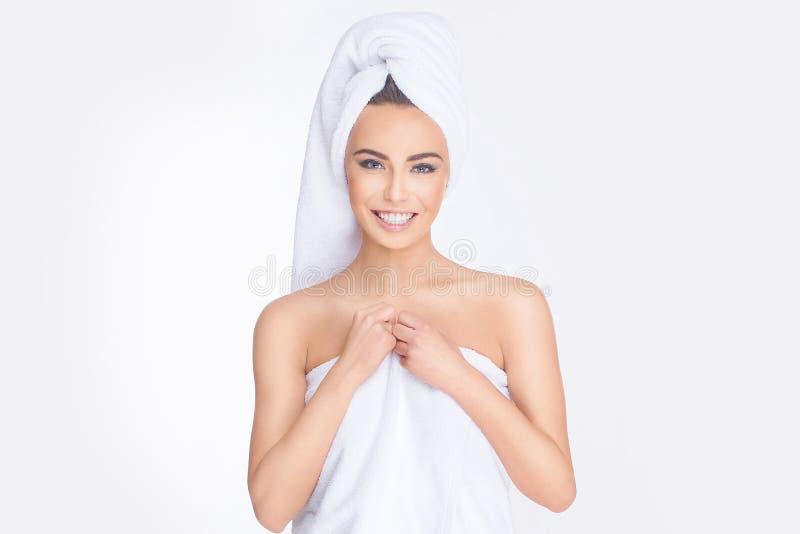 Stazione termale Giovane donna Relaxed immagine stock libera da diritti