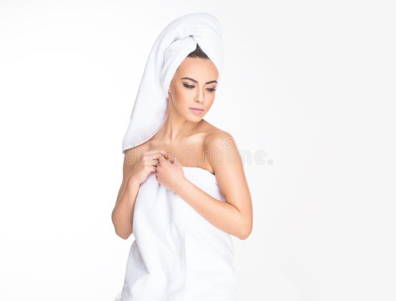 Stazione termale Giovane donna Relaxed immagini stock libere da diritti