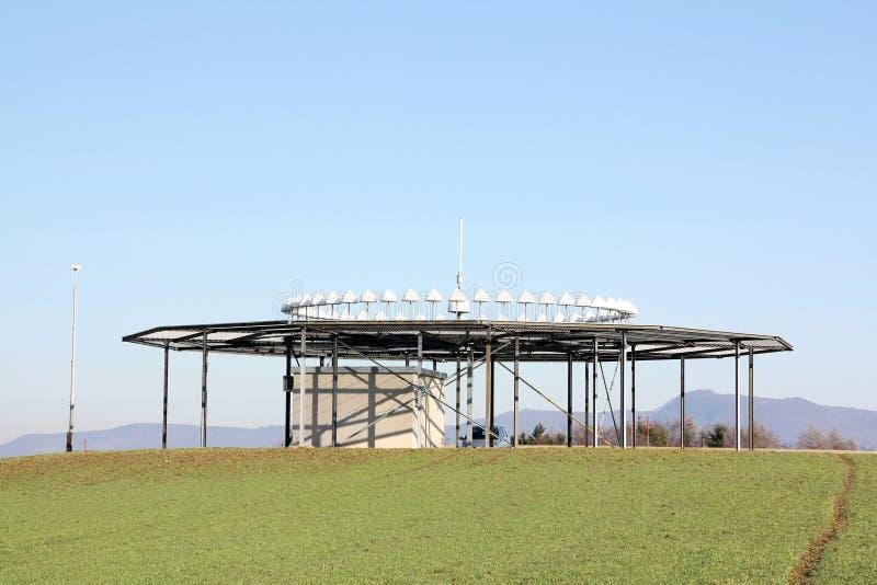 Stazione a terra di D-VOR fotografia stock