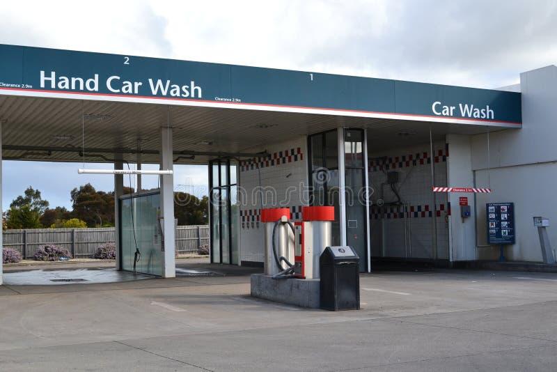 Stazioni del lavaggio di automobile della mano fotografia stock libera da diritti