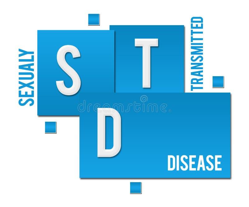 STD - Сексуально - переданный текст квадратов заболеванием голубой бесплатная иллюстрация