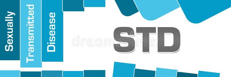 STD - Сексуально - переданные квадраты голубых нашивок заболеванием округленные бесплатная иллюстрация