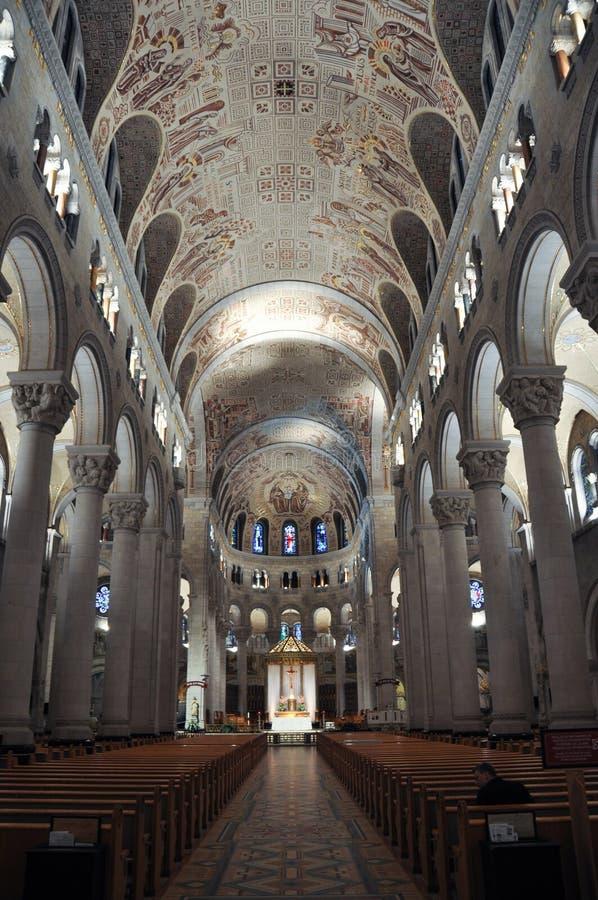 Ste安妮de在魁北克附近的Beaupre Basilica,加拿大 免版税图库摄影