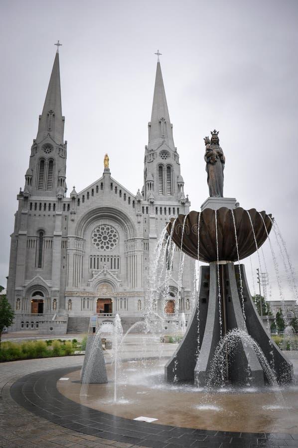 Ste Anne de Beaupre Basilica, dichtbij Quebec, Canada stock fotografie