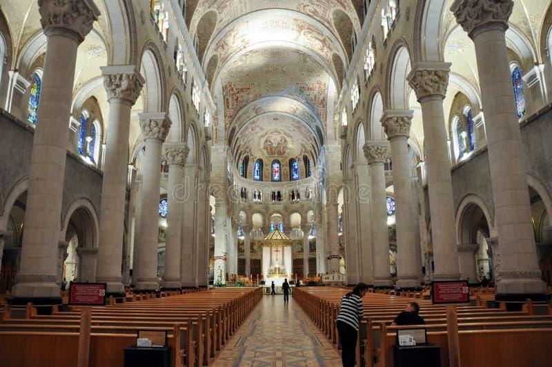 Ste Anne de Beaupre Basilica, dichtbij Quebec, Canada stock foto