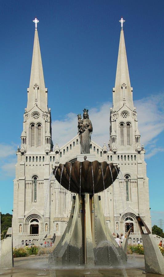 Ste-Anne-de-Beaupre Basilica stock image