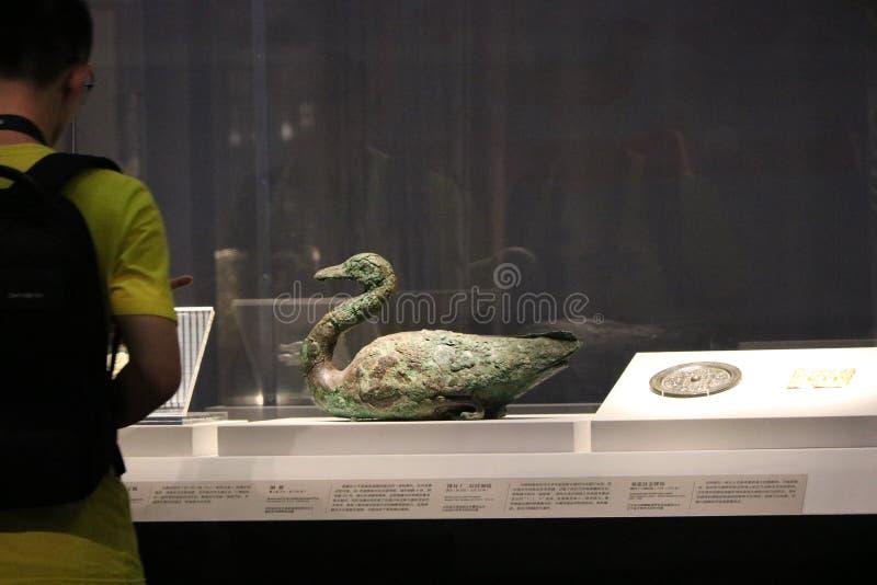 ?ste es un descubrimiento arqueol?gico de art?culos en palacios imperiales chinos antiguos foto de archivo libre de regalías