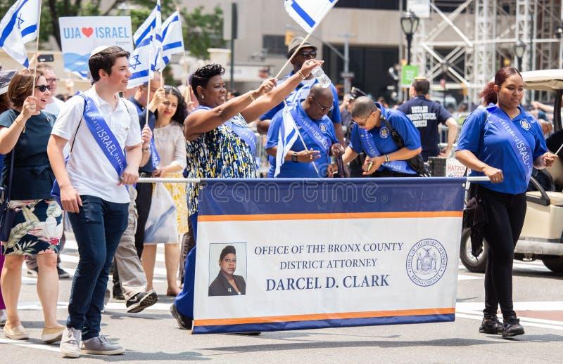 55ste Jaarlijks 'viert Israëlische 'Parade in de Stad van New York stock fotografie