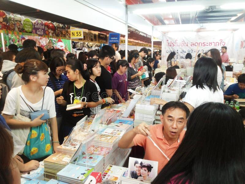 43ste Nationale Boekenbeurs en de Internationale Boekenbeurs 2015 van 13de Bangkok stock afbeeldingen