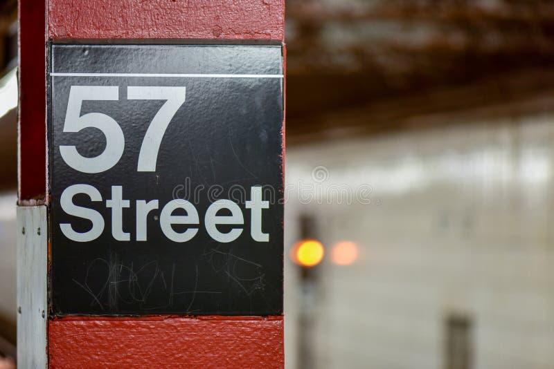 57ste Straatmetro - de Stad van New York stock afbeelding