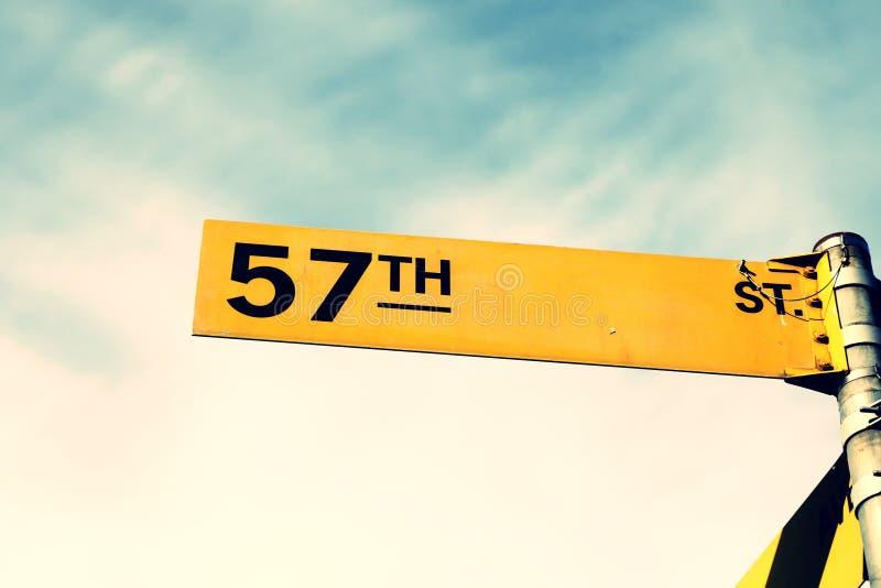 57ste straatteken royalty-vrije stock afbeelding