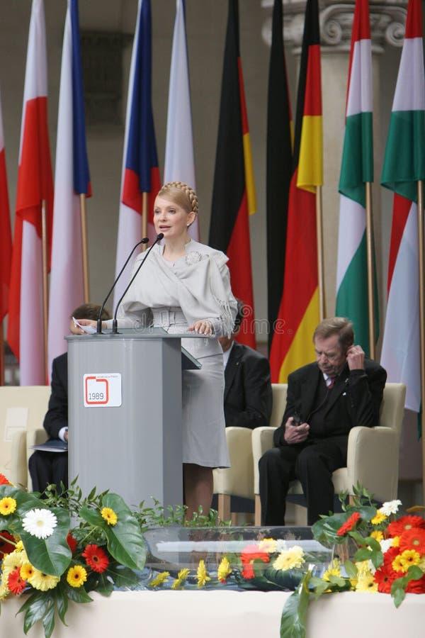 20ste Verjaardag van de instorting van Communisme in Midden-Europa stock foto