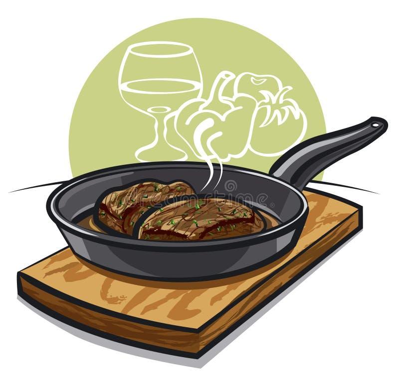 Steak stock illustrationer