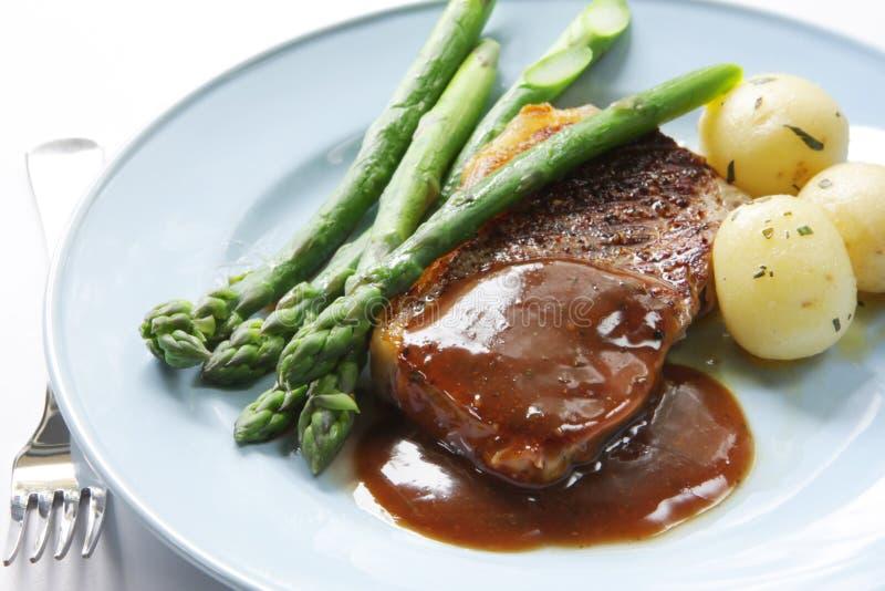 Steak-Abendessen lizenzfreie stockfotografie