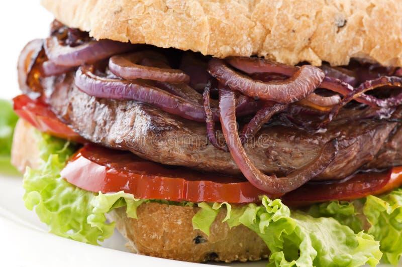 Steak-Burger lizenzfreies stockbild