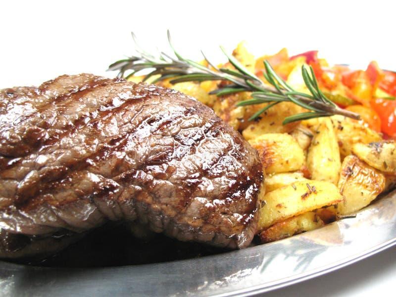 Steak close-up stock image