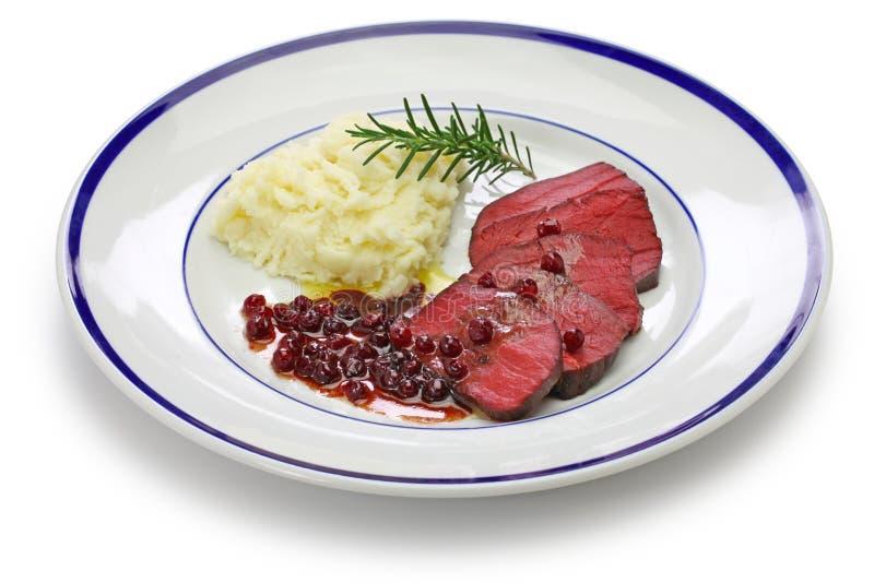 Steak de Venison, sous vide photographie stock libre de droits