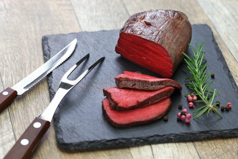 Steak de Venison, sous vide photos libres de droits