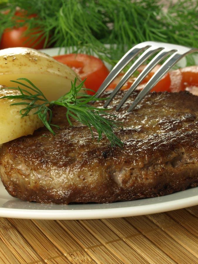 Steak for a dinner, closeup