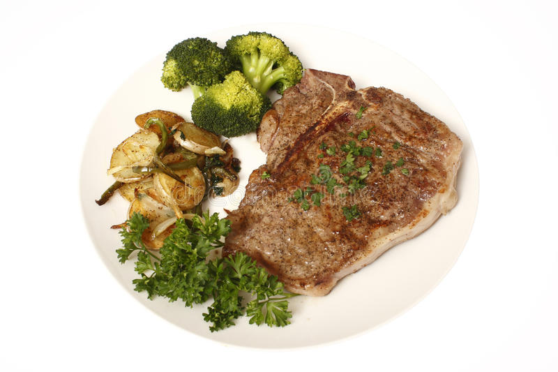 Steak Dinner With Sides Stock Photo