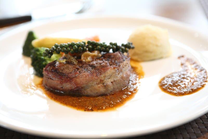steak för nötköttfiletmignon arkivbilder