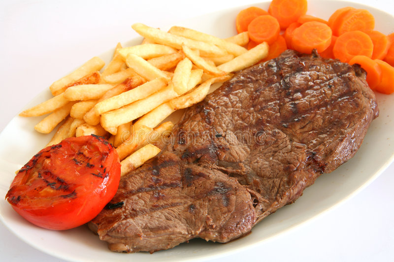 Steak and fries 1 royalty free stock image