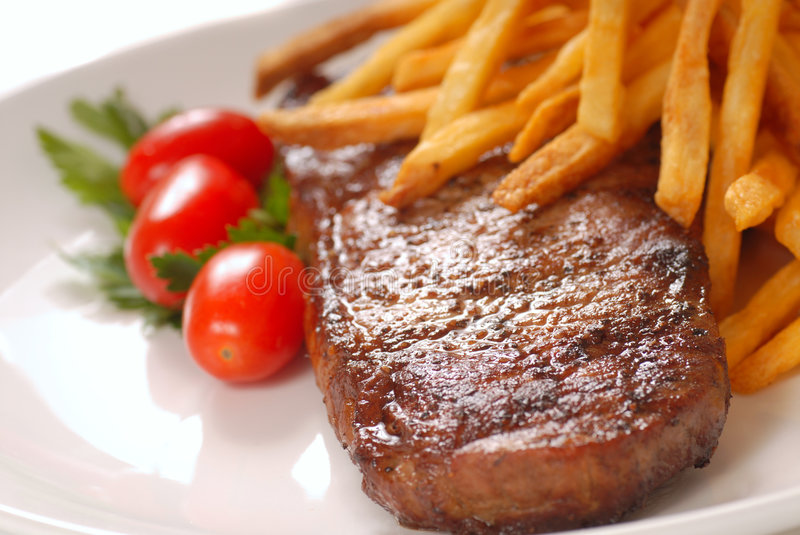 Download Steak and Fries stock photo. Image of grilled, food, savory - 7655440