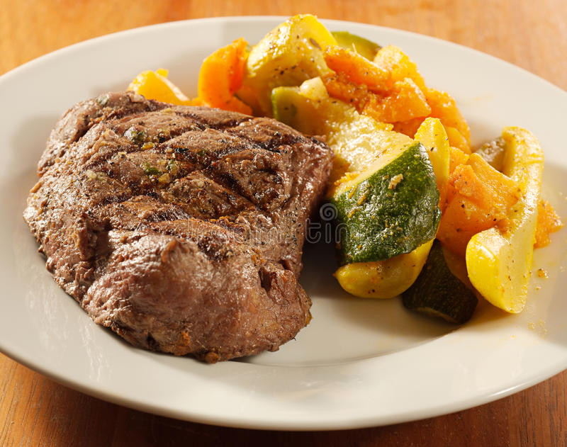 Download Steak With Grill Marks And Vegetables, Stock Image - Image: 22798761