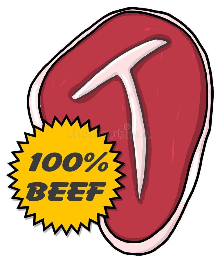 Download Steak illustration stock illustration. Illustration of bony - 12707027