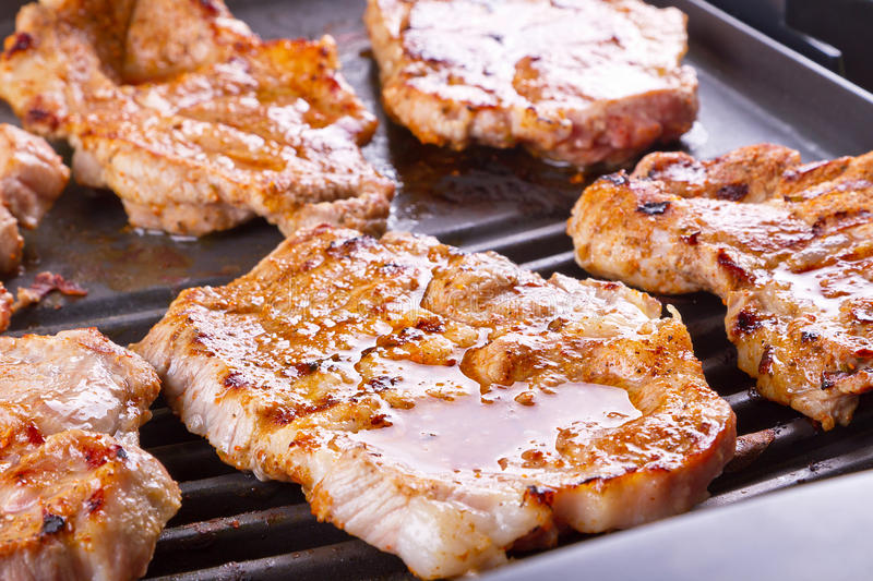 Download Steak Meat Grilled On Barbecue Stock Image - Image of healthy, closeup: 26283961