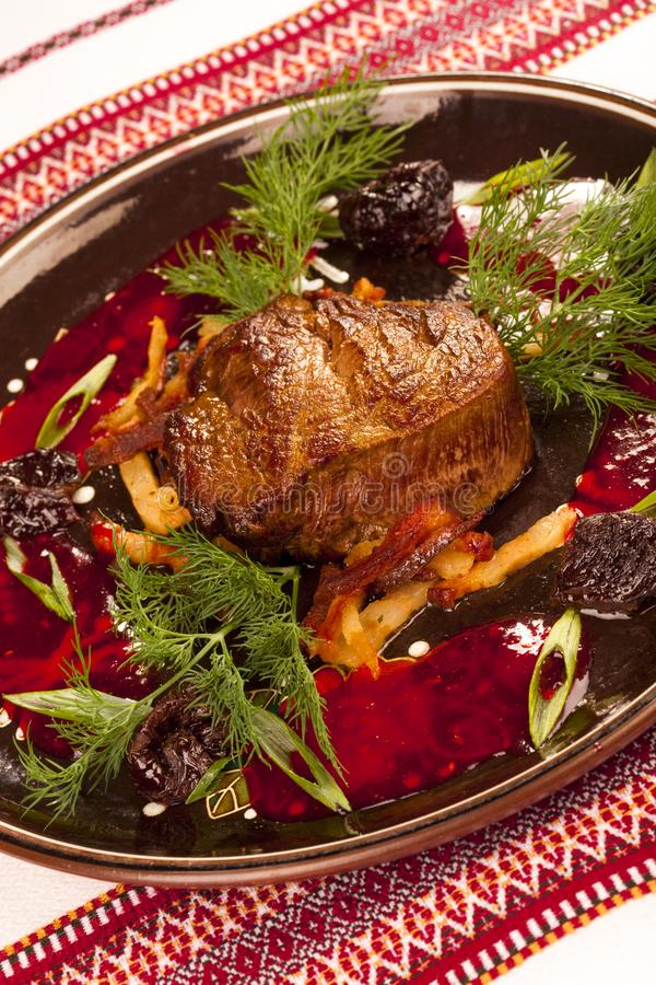 Steak meat grilled stock photos