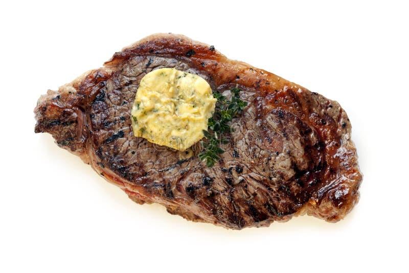 Steak Mit Herb Butter Stockfotos