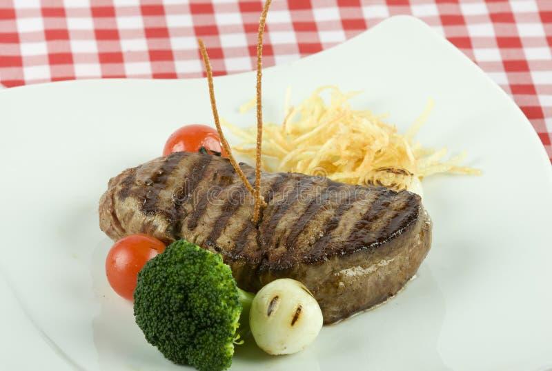 Steak mit Kartoffel lizenzfreie stockbilder