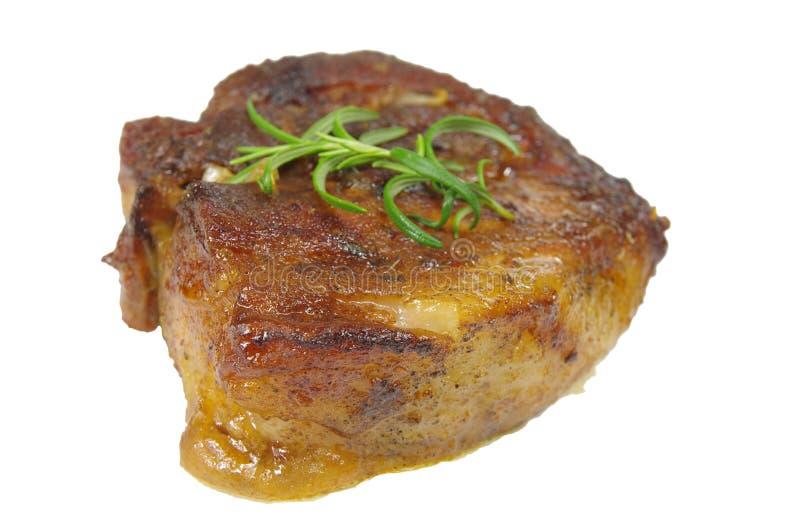 Steak mit Rosmarin lizenzfreies stockfoto