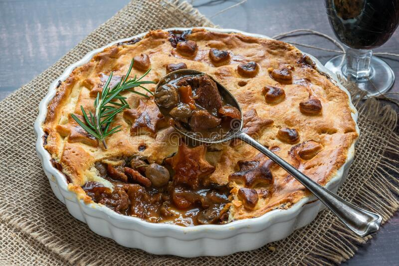 Steak, Mushroom And Ale Pie Stock Photo - Image of ...